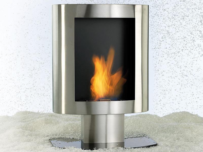 Wohnzimmer Ofen Ethanol : Carlo milano deko kaminofen bio ethanol aus edelstahl für wand amp boden