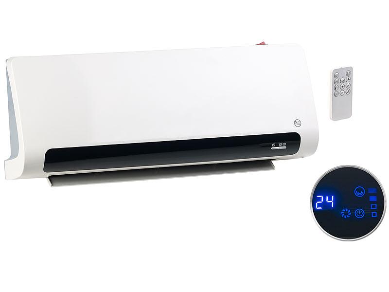Carlo Milano Design Wand Heizlufter Mit Thermostat Und Oszillation Bis 2 200 Watt