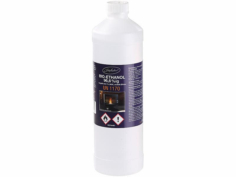 Gut gemocht Carlo Milano Bio-Ethanol / Bio-Alkohol f. Deko-Kamine, 1 Liter,TÜV CW53