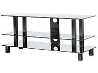 "Carlo Milano Elegante TV-Bank & Multimedia-Rack ""GD-3110 Black"""